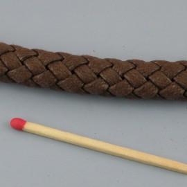 Cordelière tressée coton 10 mm par 10 cm.
