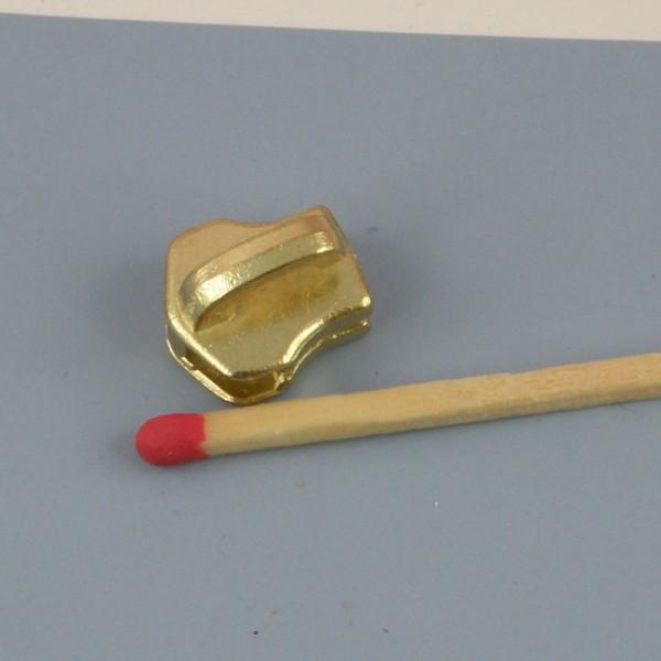 Curseur métallique doré luxe pour fermeture glissière sac,  fourniture maroquinerie.
