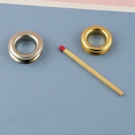 Œillet rond métal à sertir emboutir 2 cm