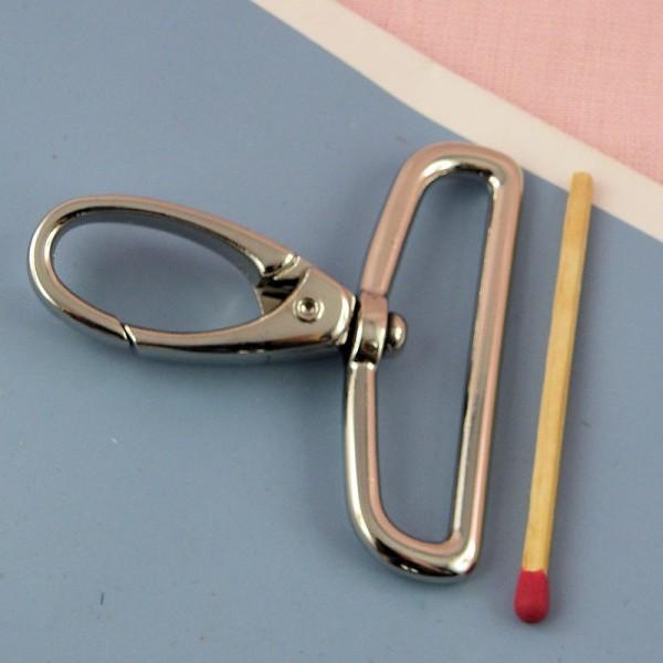Mousqueton métallique luxe fournitures maroquinerie 5 cm, 50 mm,
