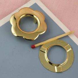 Oeillet rond  métallique à sertir, emboutir 28 mm.