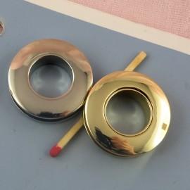 Oeillet rond métal à visser 3 cm.