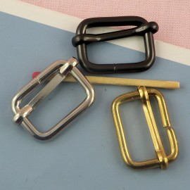 Rectangular Metal buckle 2 cms,