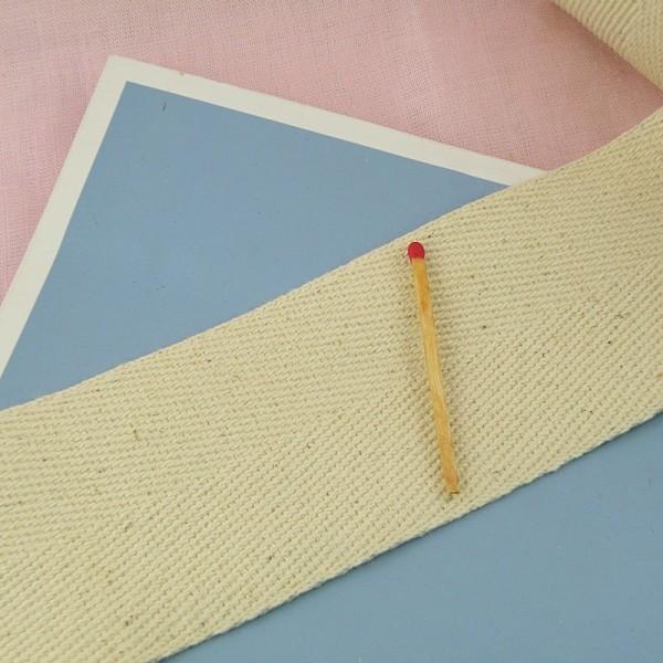 Sangle chevron coton, galon épais anse sacs, 5 cm large par 10 cm