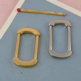 Anneau ovale rectangulaire métal attache poignée sac maroquinerie