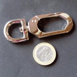 Mousqueton métallique luxe fournitures maroquinerie  cm, 74 mm,