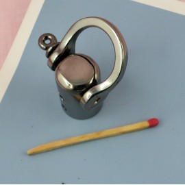 """Buckle stirrup """"D"""" ring with screw and tie for rope  4 cms,"""