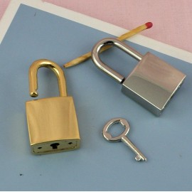 Metal purse twist lock, Hermes style, 13 x 27 mm