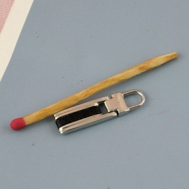 Bag accessories Zipper pullers leather and metal