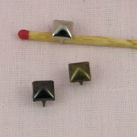 Brass Pyramid Studs Rock spikes spots 7 mms Leather craft