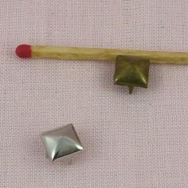 Brass Pyramid Studs Rock spikes spots 7 mms Leather craft