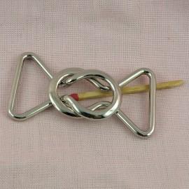 Fermoir boucle deux parties ceinture 3 cm