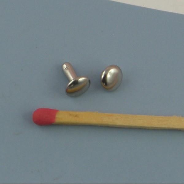 Rivet métallique accessoire maroquinerie à emboutir.