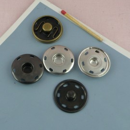 Big metal pressure stud fastener, snaps closure 28 mms