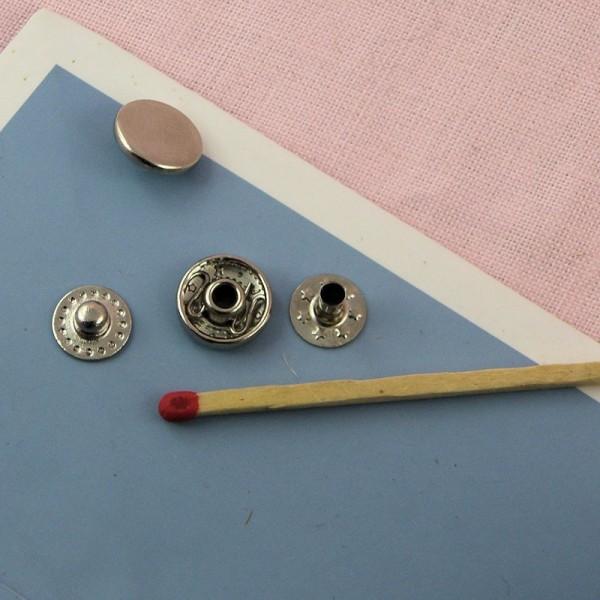 Metallic snaps fastener 11 mms