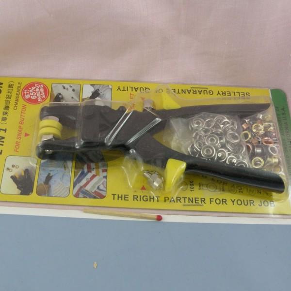 Pince pour poser les oeillets et pressions 8 mm