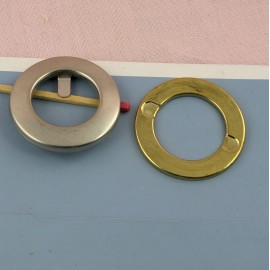 Oeillet rond métal à pattes 3 cm.