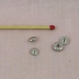 Metallic snaps fastener 6 mms