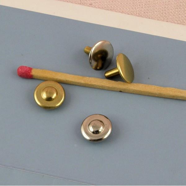 Metal rivet accessorie purse 8 mms.