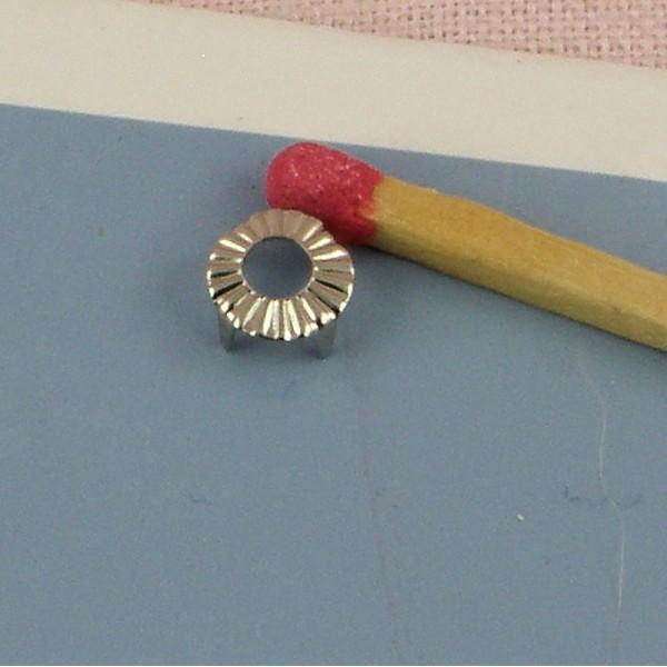Brass round Studs Rock spikes spots 7 mms