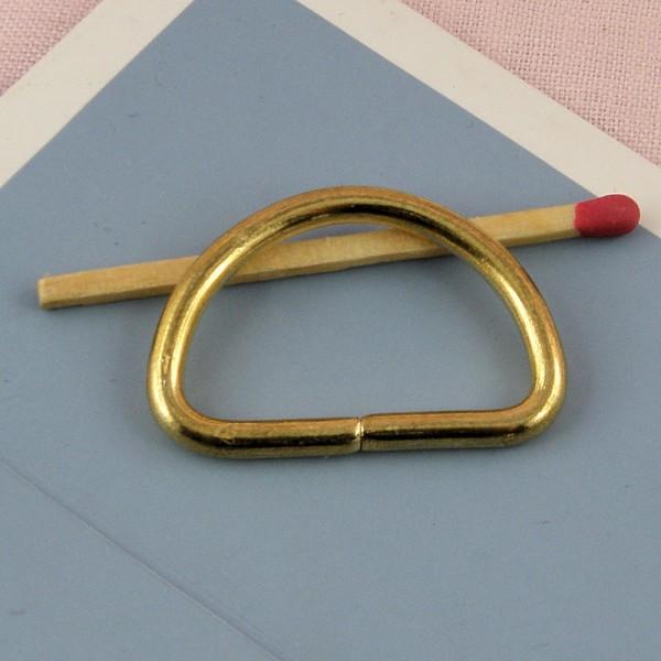Demi anneau D boucle métal 33 mm