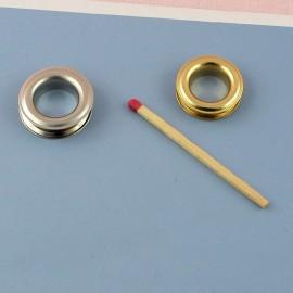Œillet rond métal à sertir emboutir 2cm