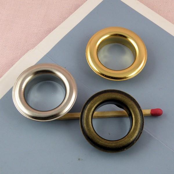 Œillet rond métal à sertir emboutir 3 cm