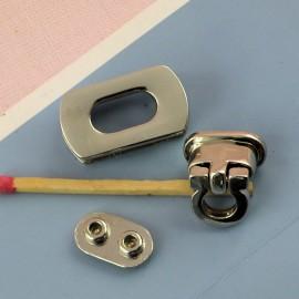 Fermoir anneau à rabat fournitures maroquinerie