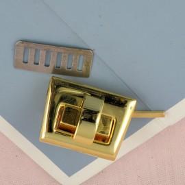 Metallic turning clasp handbag 2 parts