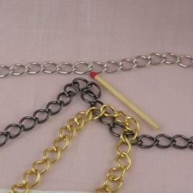 Chaîne sac métal au mètre 1 cm  fourniture maroquinerie.