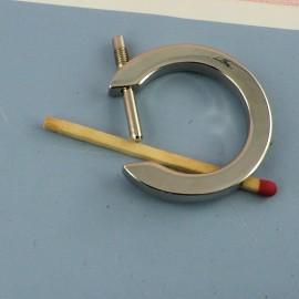 Anneau plat métal ouverture fournitures maroquinerie 45 mm.