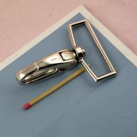 Mousqueton métal maroquinerie 6 cm