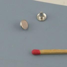 Rivet clou métal maroquinerie 7 mm.