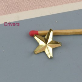 Gold metal star Studs Rock spikes spots