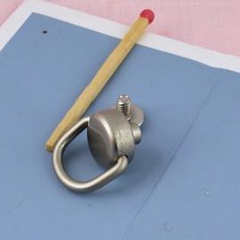Anneau sur plot à visser maroquinerie 16 mm