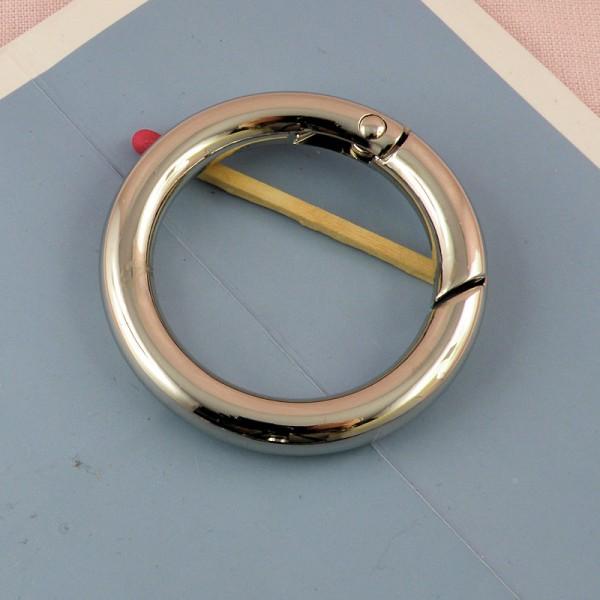 Anneau métal fermeture fournitures maroquinerie 48 mm.