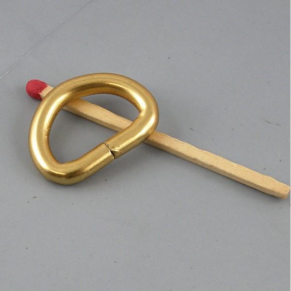 Demi anneau, attache D, boucle métal fournitures maroquinerie 19mm.