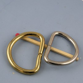 "Purse Buckle ""D"" ring, dee, half ring, 32 mm"