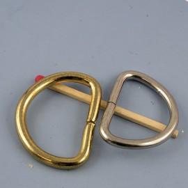 Demi anneau D boucle métal 32 mm