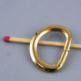 Demi anneau D boucle métal 28 mm