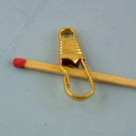 Mini Mousqueton métal fournitures maroquinerie 2 cm