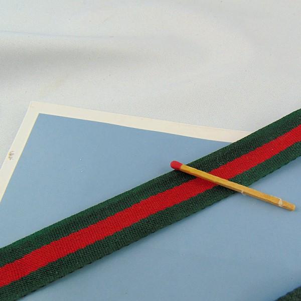 Sangle épaisse rayéevGucci 4 cm par 10 cm