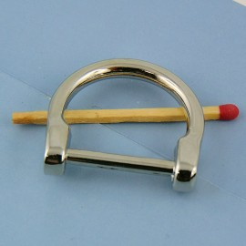 "Buckle stirrup ""D"" ring dee half ring, 32 mm"