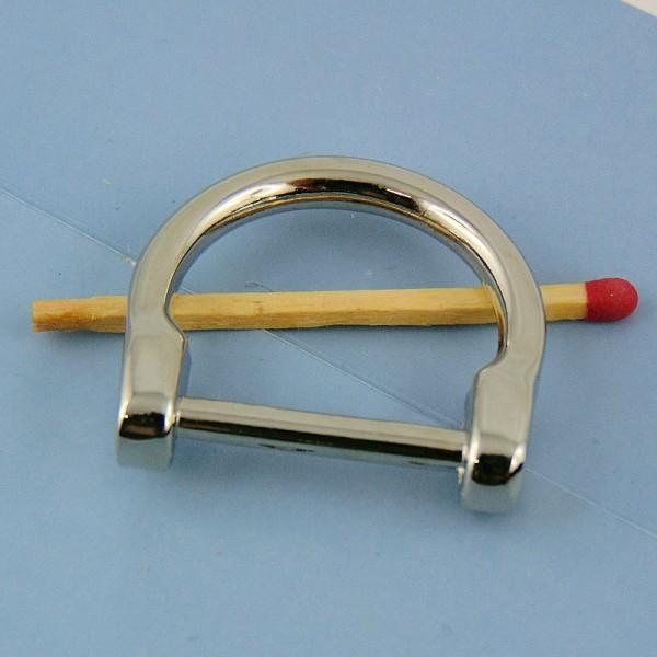 Demi anneau fer cheval D fournitures maroquinerie 30 mm.
