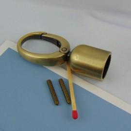 Mousqueton métallique luxe attache cordelière, fournitures maroquinerie.