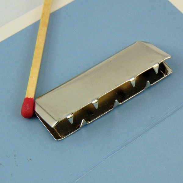 Brass silver letal corner 2 cms Leather craft