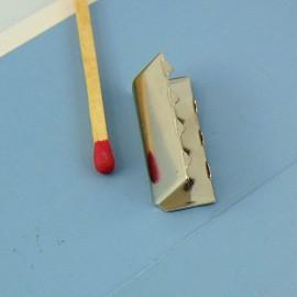 Brass silver Claw Strap Tip 25 mms
