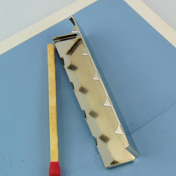 Brass silver Claw Strap Tip 5 cms