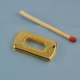 Metal purse proptect for lock Hermes style, 13 x 27 mm