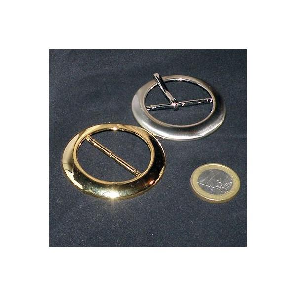 Big size belt metal buckle, diameter 6 cms.